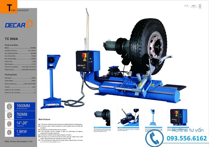 máy làm lốp xe tải xe khách decar-TC990A